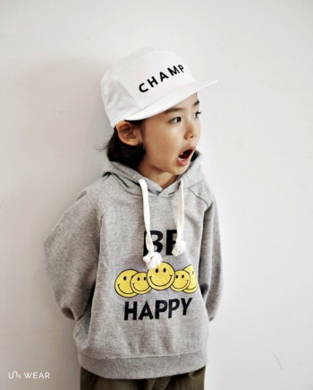 BE Happy連帽上衣(灰)-uni wear